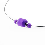 Polkkis necklace (purple)