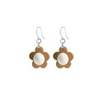 Wooden flower earrings - Lootus