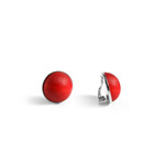 Clip on earrings - red Turku earrings