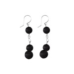 Black bead earrings - Mesi