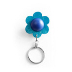 Blue flower keyring