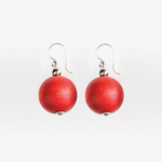 Red drop earrings 'Pallo'