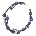 Purple and black necklace 'Ulpukka'