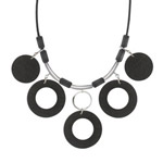 Black necklace 'Pore'