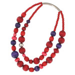 mixed red Rentukka necklace
