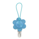 flower towel clip in blue