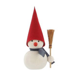 Snowman with broom table decoration