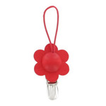 Towel clip - red flower Kukka