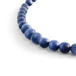 wooden bead necklace - blue Porvoo