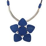 blue flower pendant necklace Orkidea