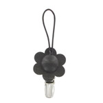 Towel clip - black flower Kukka