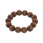 Brown wooden bead bracelet 'Pohjola'