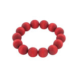 red wooden bead bracelet 'Suomi'