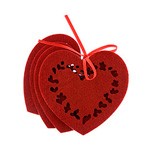 Red heart coasters