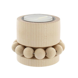 Natural wood tealight candle holder